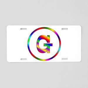 Letter G Aluminum License Plate