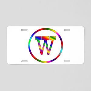 Letter W Aluminum License Plate