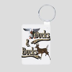 Ducks And Bucks Aluminum Photo Keychain