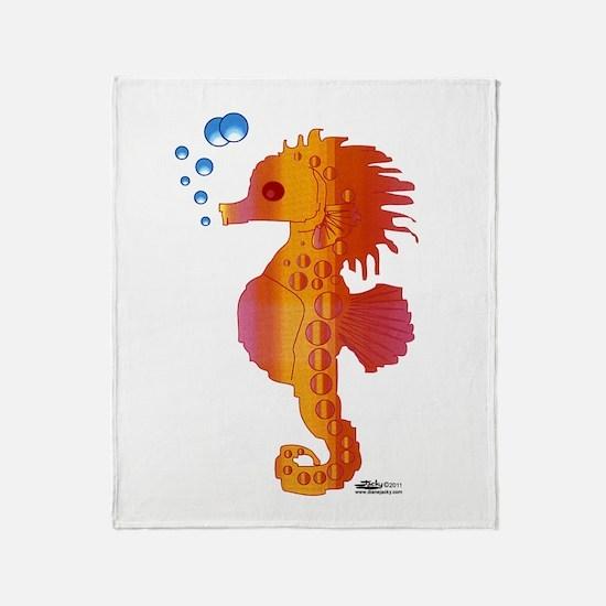 Baby Seahorse Throw Blanket