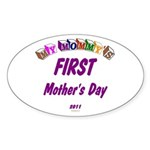 Mommy's First Oval Sticker