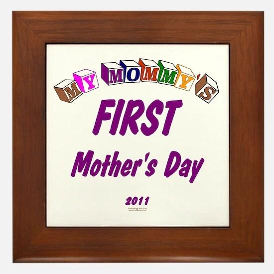 Mommy's First Framed Tile