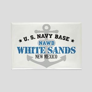 US Navy White Sands Base Rectangle Magnet