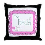 Portrait Bride Throw Pillow