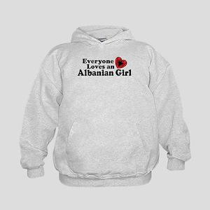 Albanian Girl Kids Hoodie