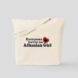 Albanian Girl Tote Bag