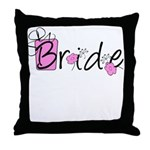 Pink Lady Bride Throw Pillow