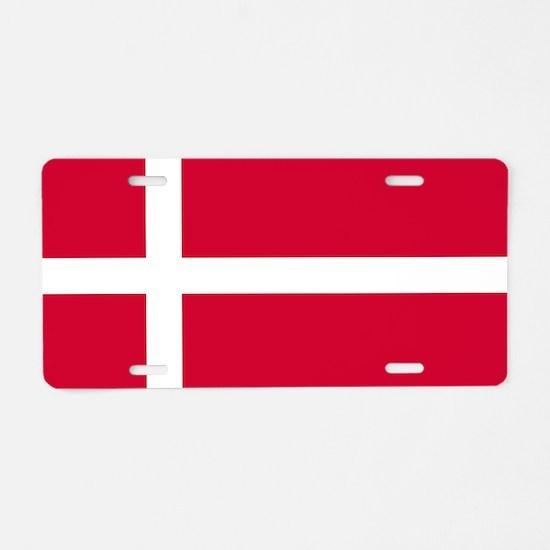 Flag of Denmark Aluminum License Plate