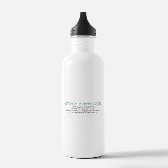 My Knight in Shining Armor Water Bottle
