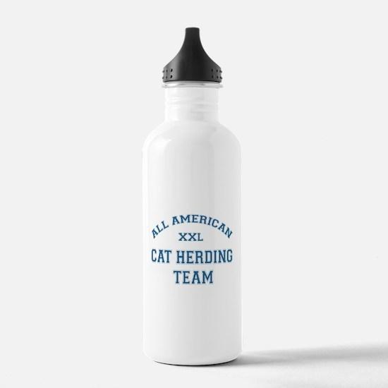 AA Cat Herding Team Water Bottle