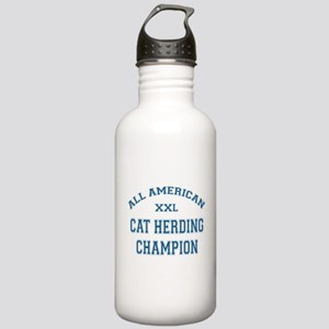 AA Cat Herding Champion Stainless Water Bottle 1.0