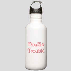 Double Trouble Pink Stainless Water Bottle 1.0L