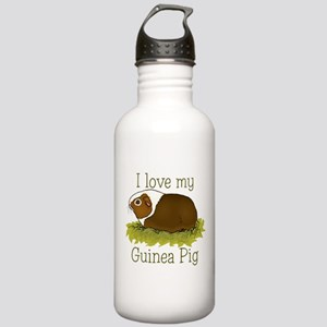 I Love my Guinea Pig Stainless Water Bottle 1.0L