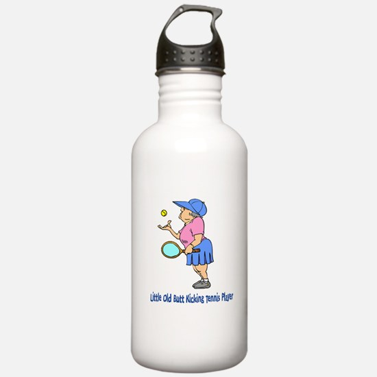 Butt Kicking Tennis Player Water Bottle
