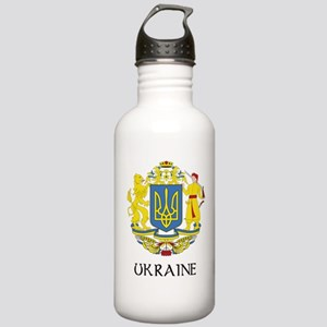 Ukraine Coat of Arms Stainless Water Bottle 1.0L