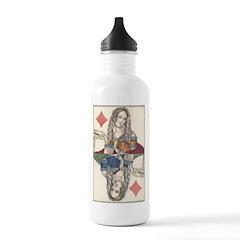 German Queen of Diamonds Water Bottle
