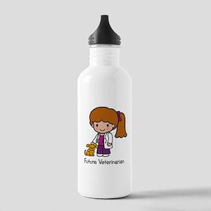 Future Veterinarian Girl Stainless Water Bottle 1.