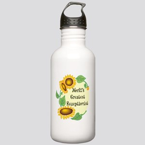 World's Greatest Receptionist Stainless Water Bott