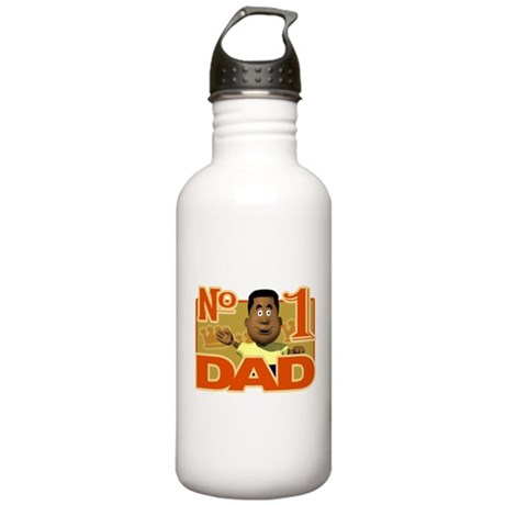 Number 1 Dad - Black Fathe Stainless Water Bottle