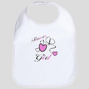 Pink Hearts Flower Girl Bib