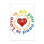 LGBT Marriage Mini Poster Print