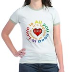 LGBT Marriage Jr. Ringer T-Shirt
