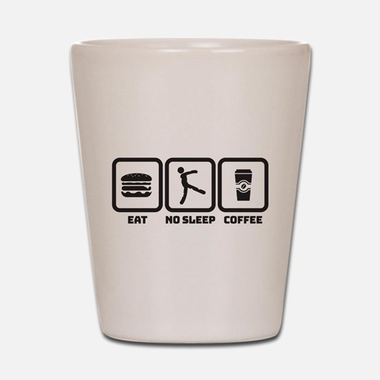 No Sleep Coffee Shot Glass
