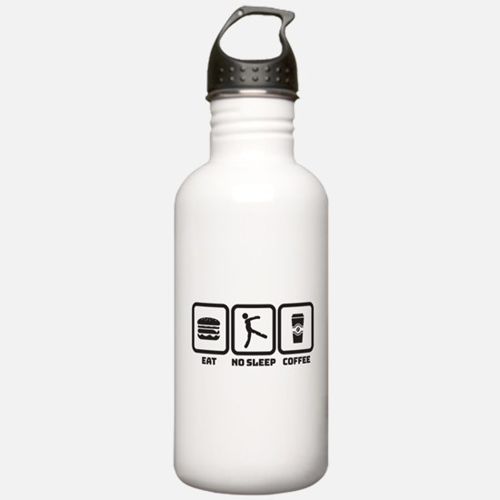 No Sleep Coffee Water Bottle