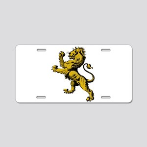 Rampant Lion Aluminum License Plate