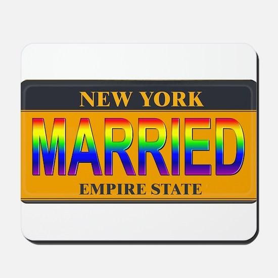 NY MARRIED Mousepad