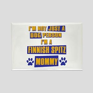 Finnish Spitz Mommy Rectangle Magnet