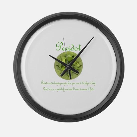 """Peridot Image & Meaning"" Large Wall Clock"