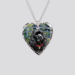 Bridge - Black Cocker Necklace Heart Charm