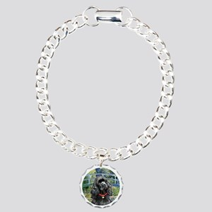 Bridge - Black Cocker Charm Bracelet, One Charm