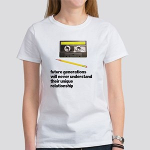 Cassette Tape Pencil Relation Women's T-Shirt