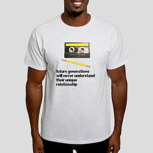 Cassette Tape Pencil Relation Light T-Shirt