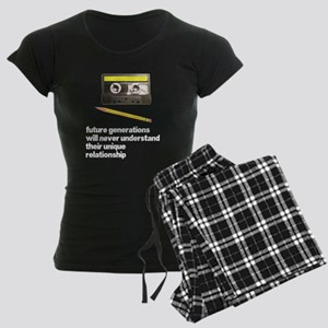 Cassette Tape Pencil Relation Women's Dark Pajamas
