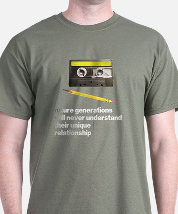 Cassette Tape Pencil Relation T-Shirt