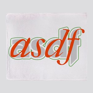 ASDF Throw Blanket