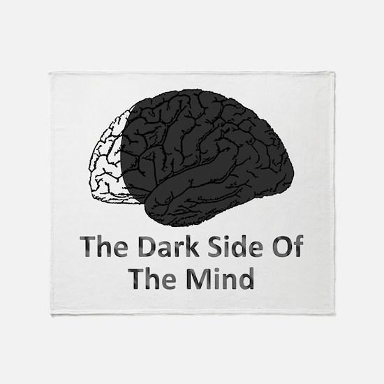 Dark Side Of The Mind Throw Blanket