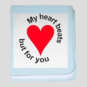 My Heart Beats baby blanket