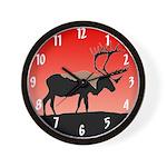 Sunset Caribou Wall Clock