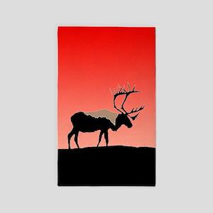 Sunset Caribou Area Rug