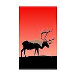 Sunset Caribou Sticker (Rectangle 10 pk)