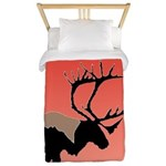 Sunset Caribou Twin Duvet Cover