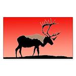 Sunset Caribou Sticker (Rectangle)