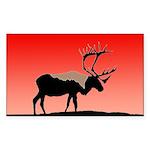 Sunset Caribou Sticker (Rectangle 50 pk)