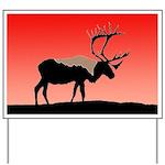 Sunset Caribou Yard Sign