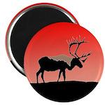 Sunset Caribou Magnet
