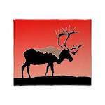 Sunset Caribou Throw Blanket